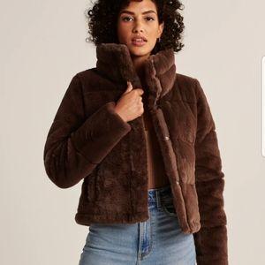 Abercrombie & Fitch Faux Fur Mini Puffer